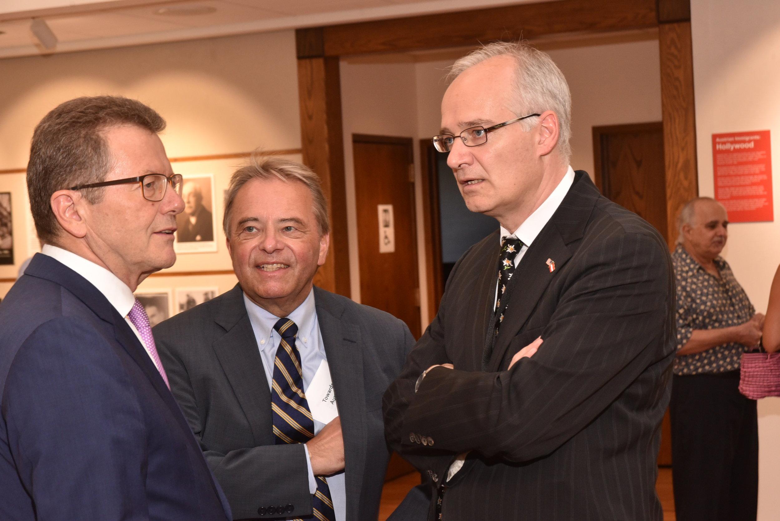 Ambassador Waldner (left) with Thorsten Eisingerich, Director of the Austrian Press and Information Service.   Photo: Peter Alunans