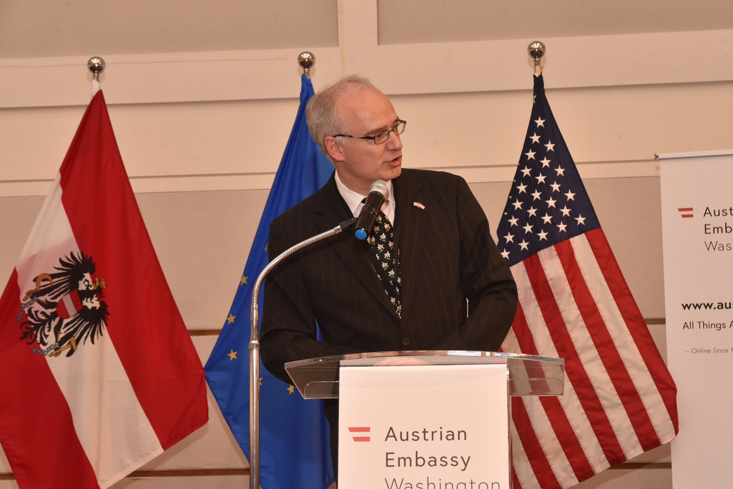 Thorsten Eisingerich, Director of the Austrian Press and Information Service, oversaw the project for the Embassy.