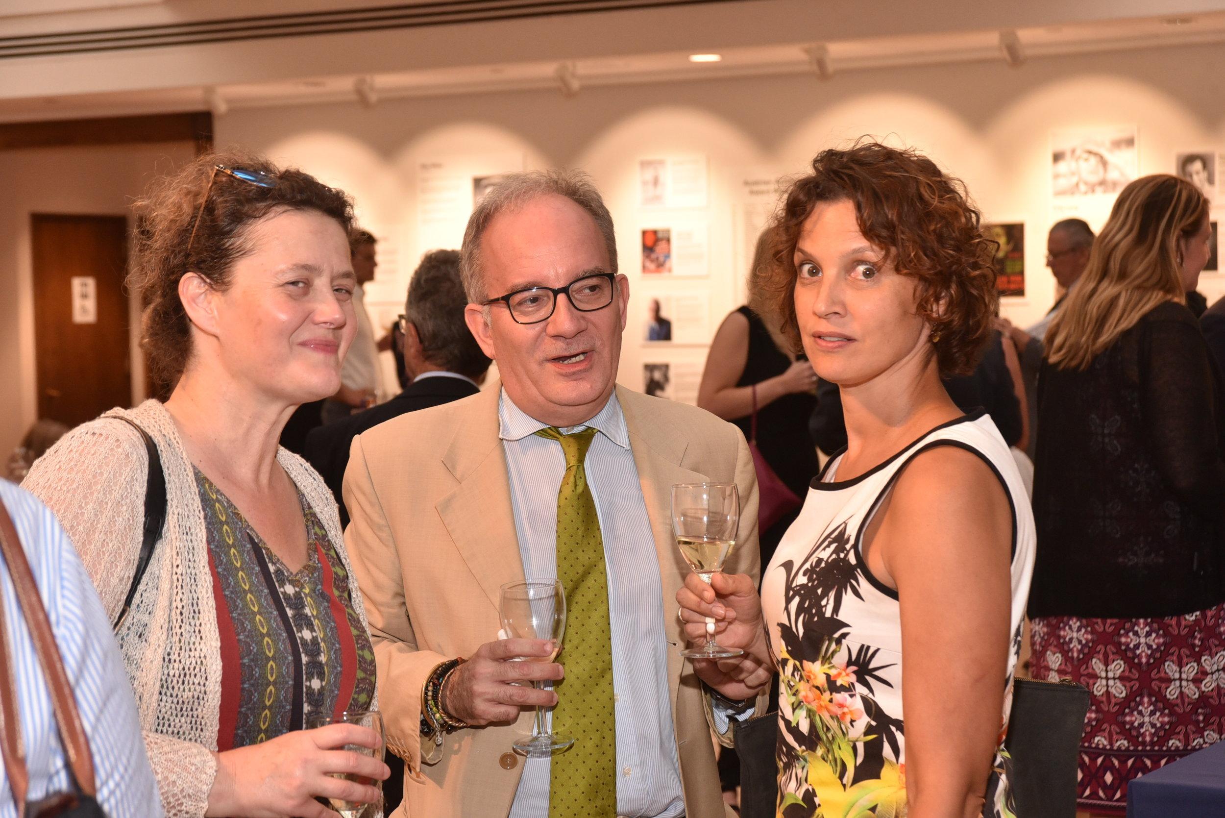 Eva Schöfer (right), Director of the Austrian Cultural Forum Washington, with guests.   Photo: Peter Alunans