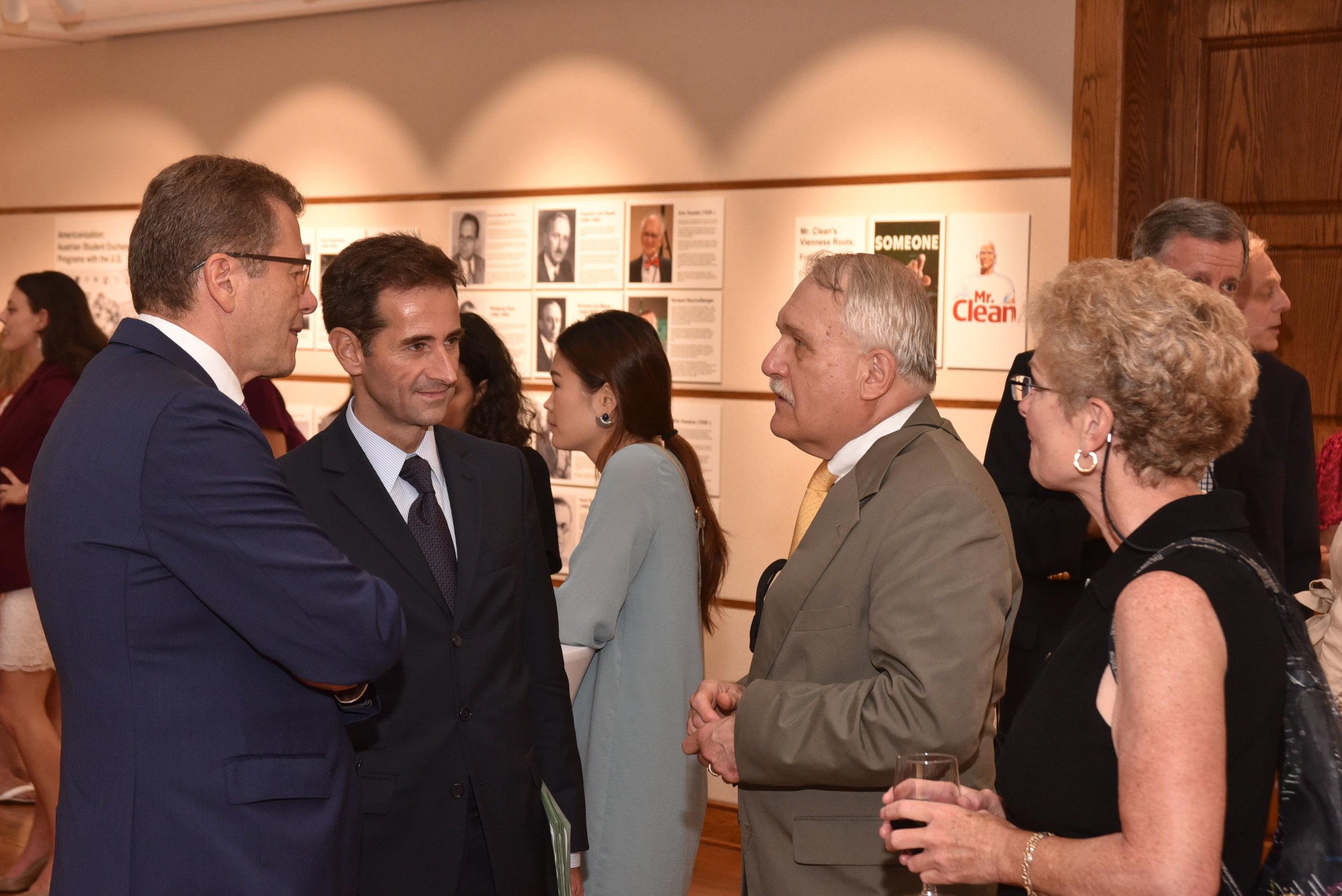 Ambassador Waldner with guests.   Photo: Peter Alunans