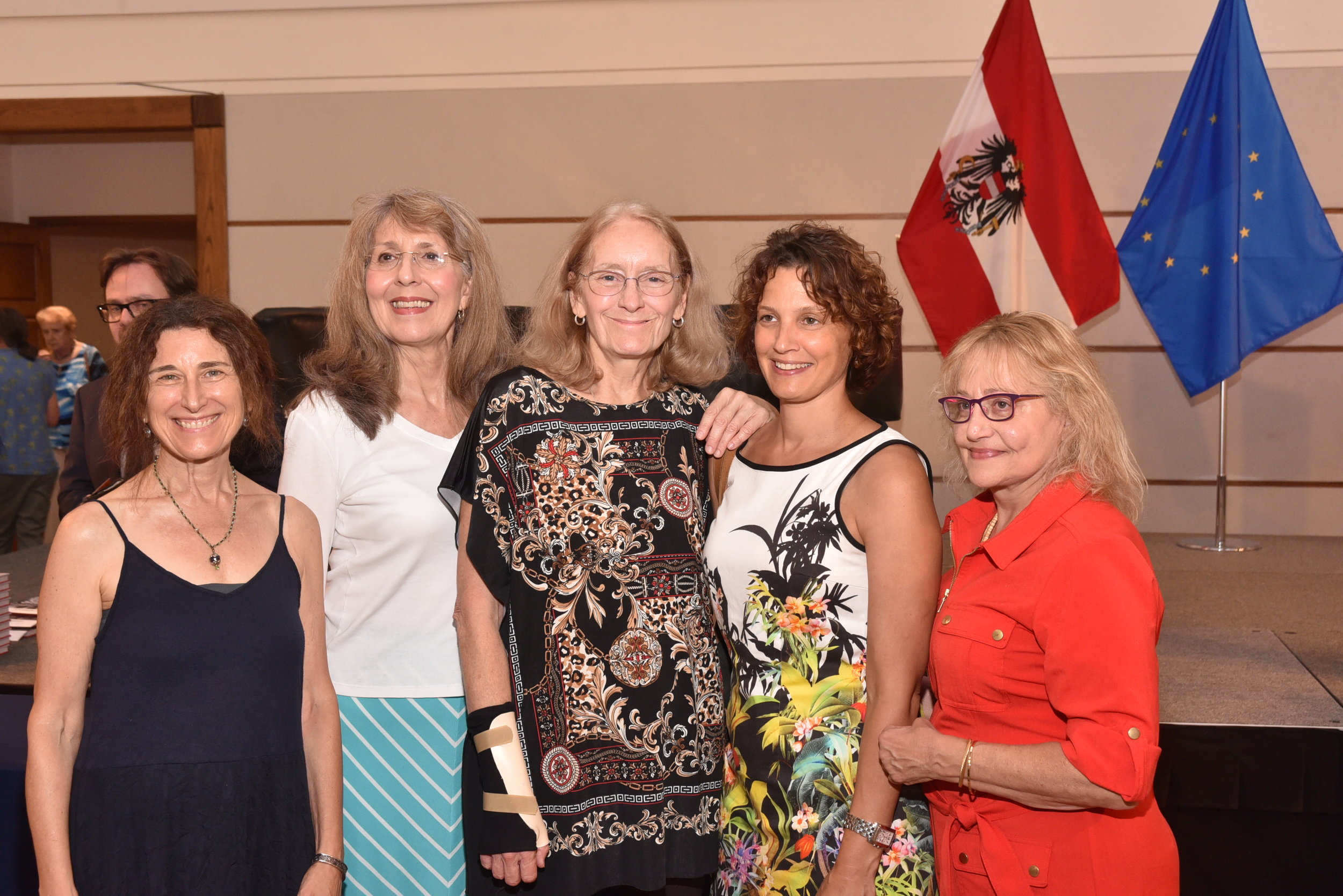 Eva Schöfer (second from right), Director of the Austrian Cultural Forum Washington, with guests.   Photo: Peter Alunans