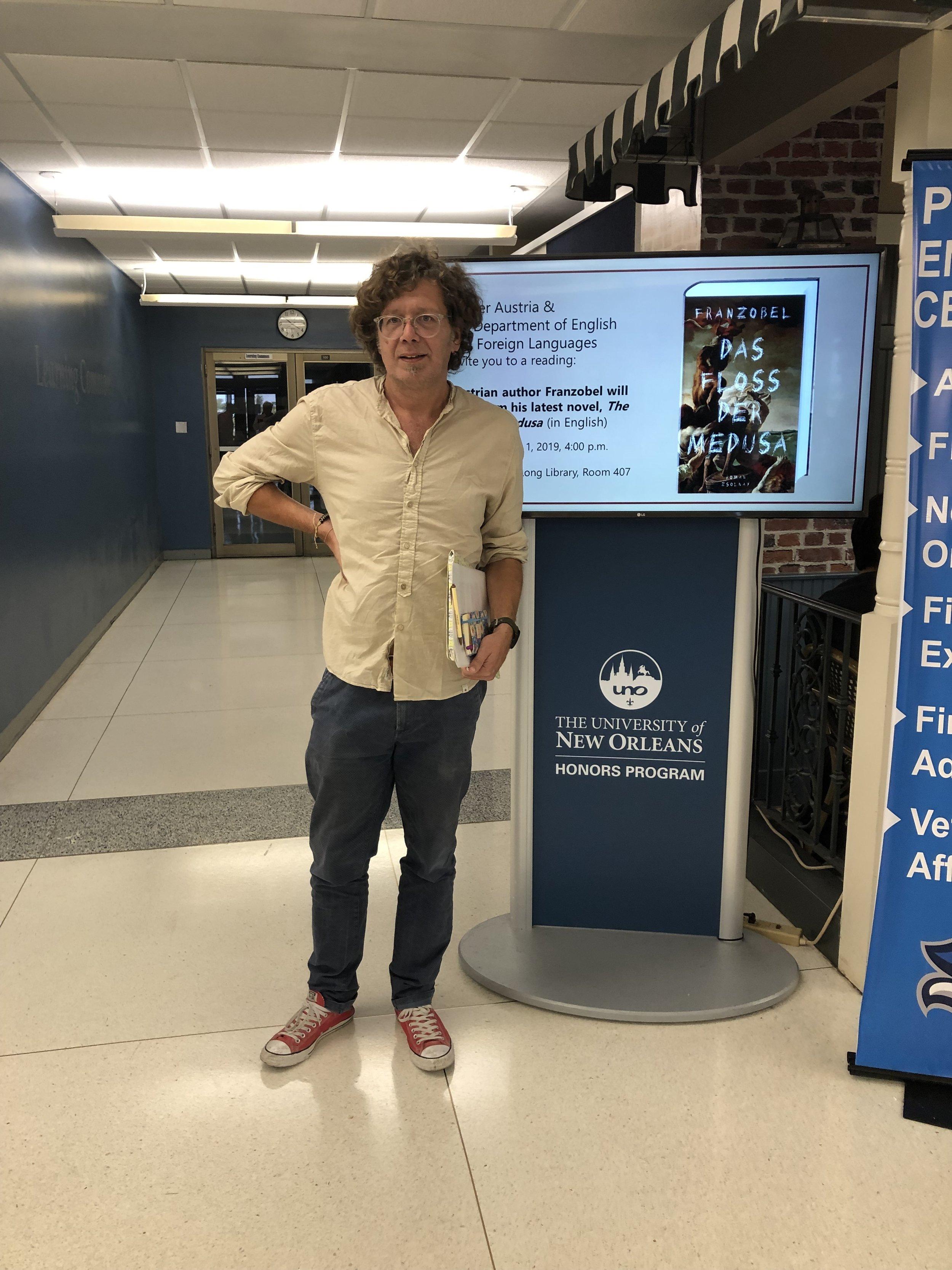 Franzobel at The University of New Orleans.