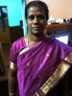 alphonsa in her purple sari