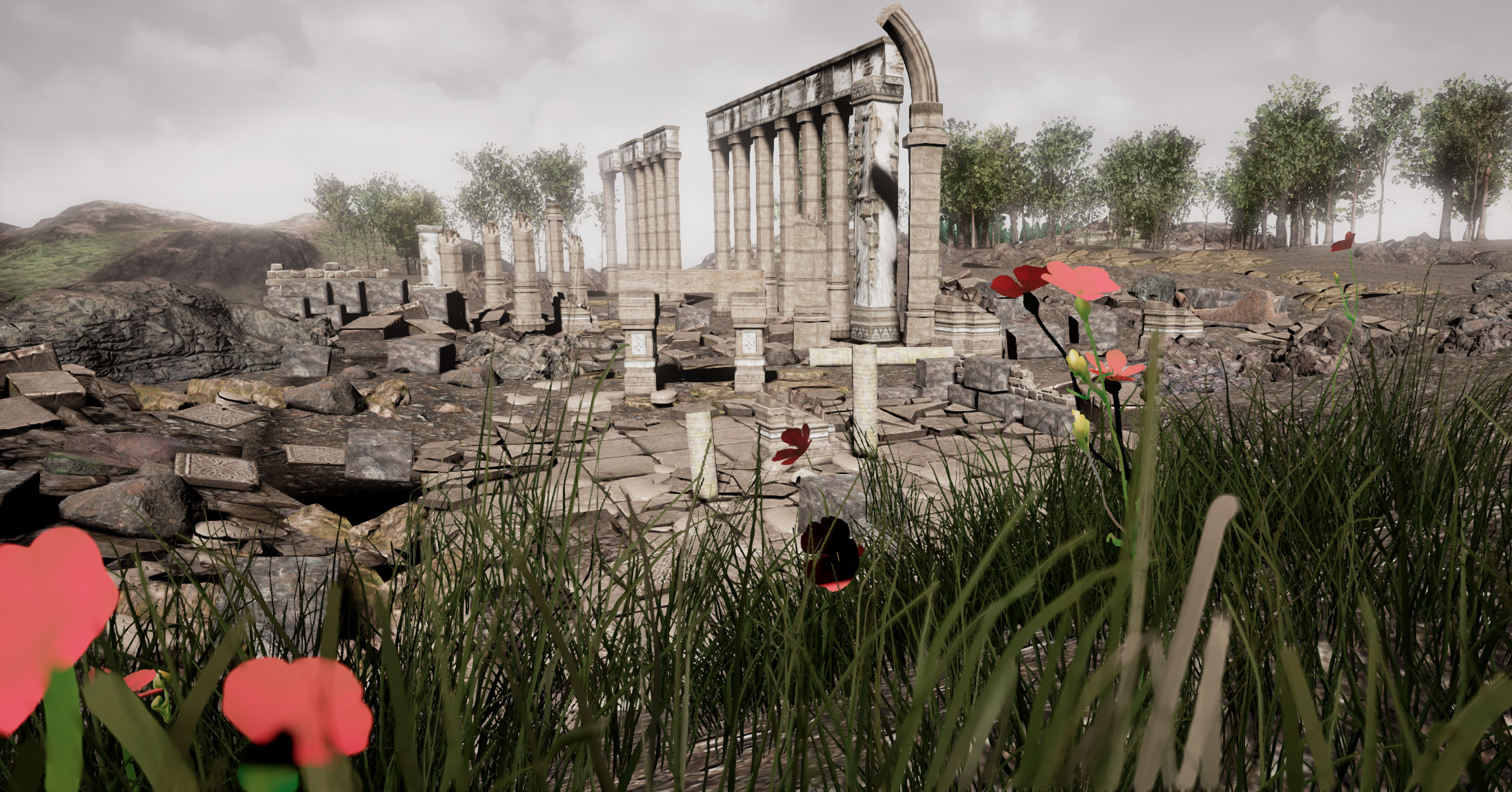 A high resolution screenshot after all post processing effects were implemented