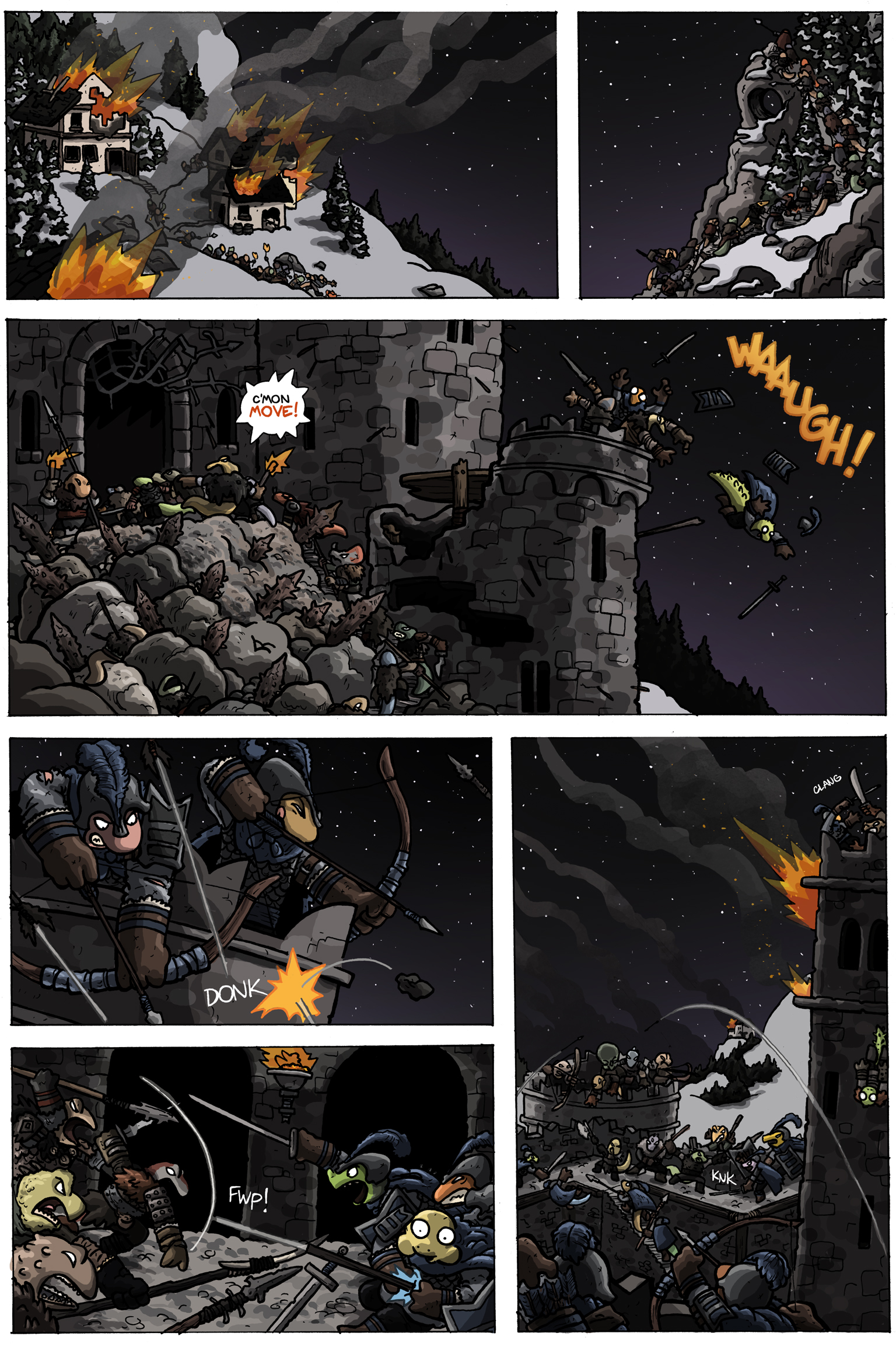 To view the webcomic in full please visit:   CharlieIronpaw.com