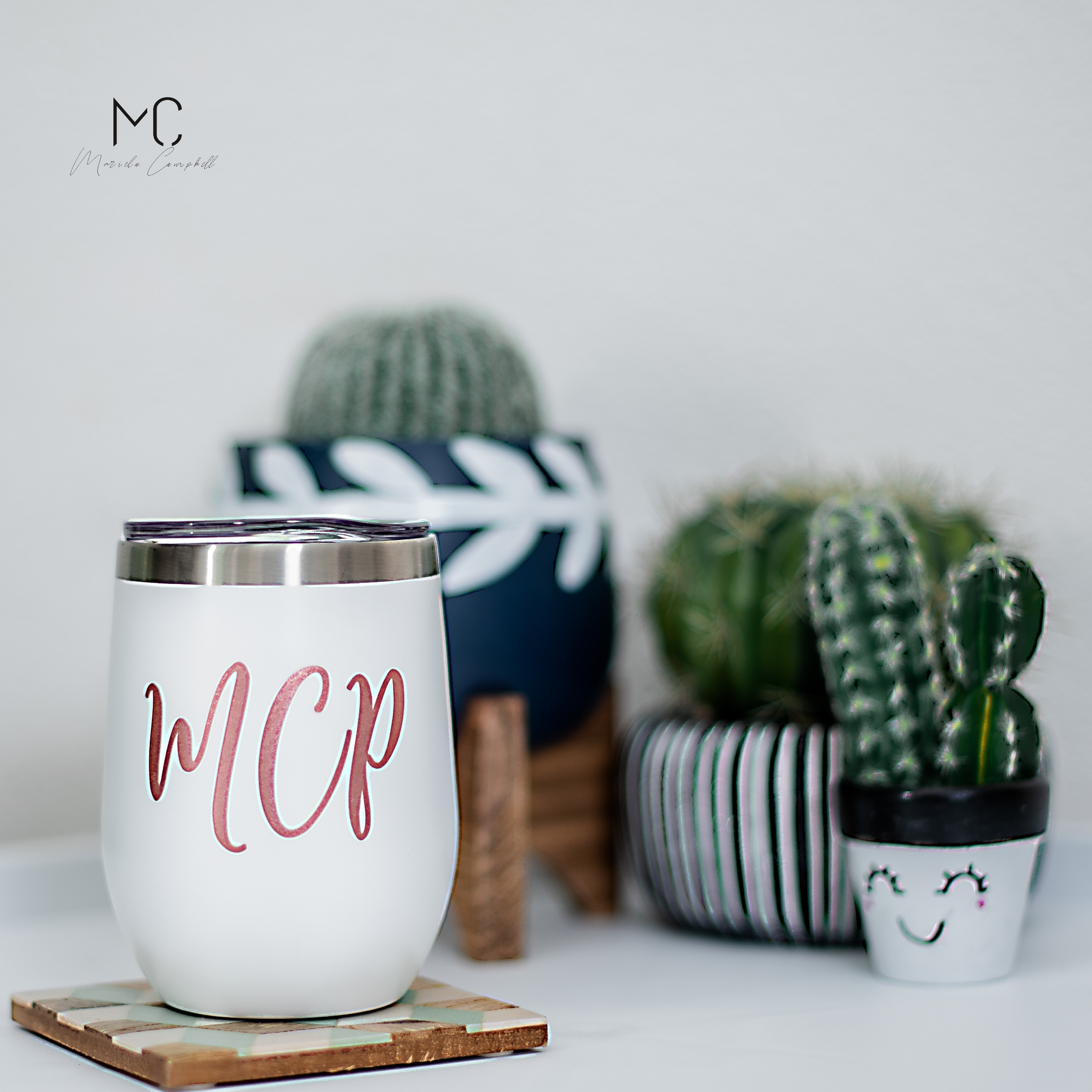 Wine anyone? - Personalized insulated, Stemless Wine Cup.
