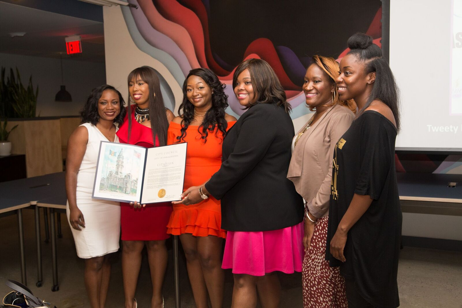 The Business Babes receiving a Citation from the Philadelphia City Council.