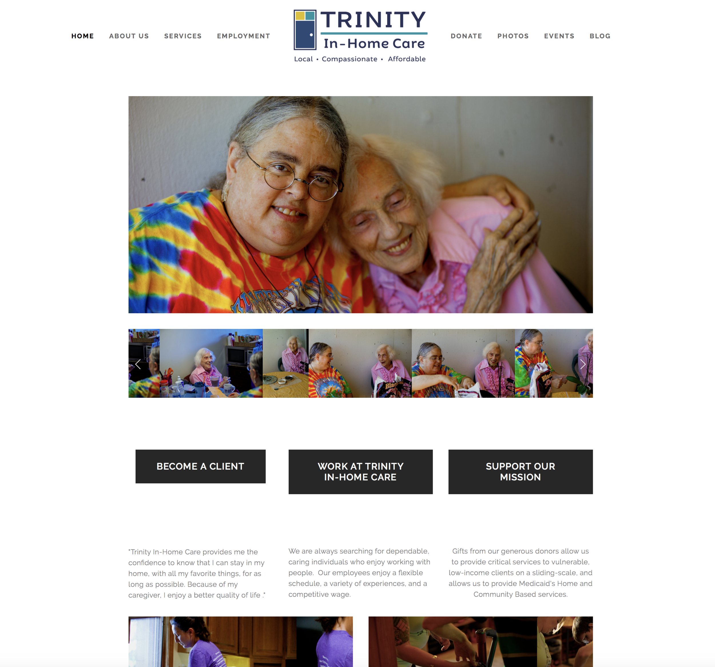 The website update is finally done! - After refreshing the logos/branding and having professional photos of our clients and staff taken, the website finally got some attention.
