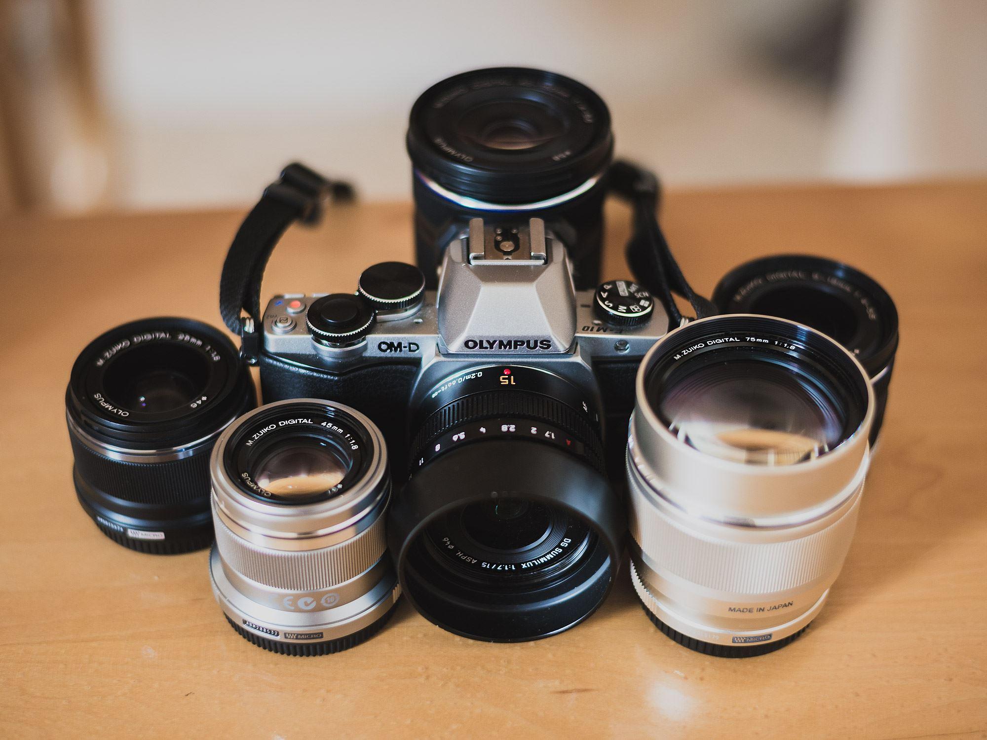 My Olympus OMD EM10 mirrorless camera kit.