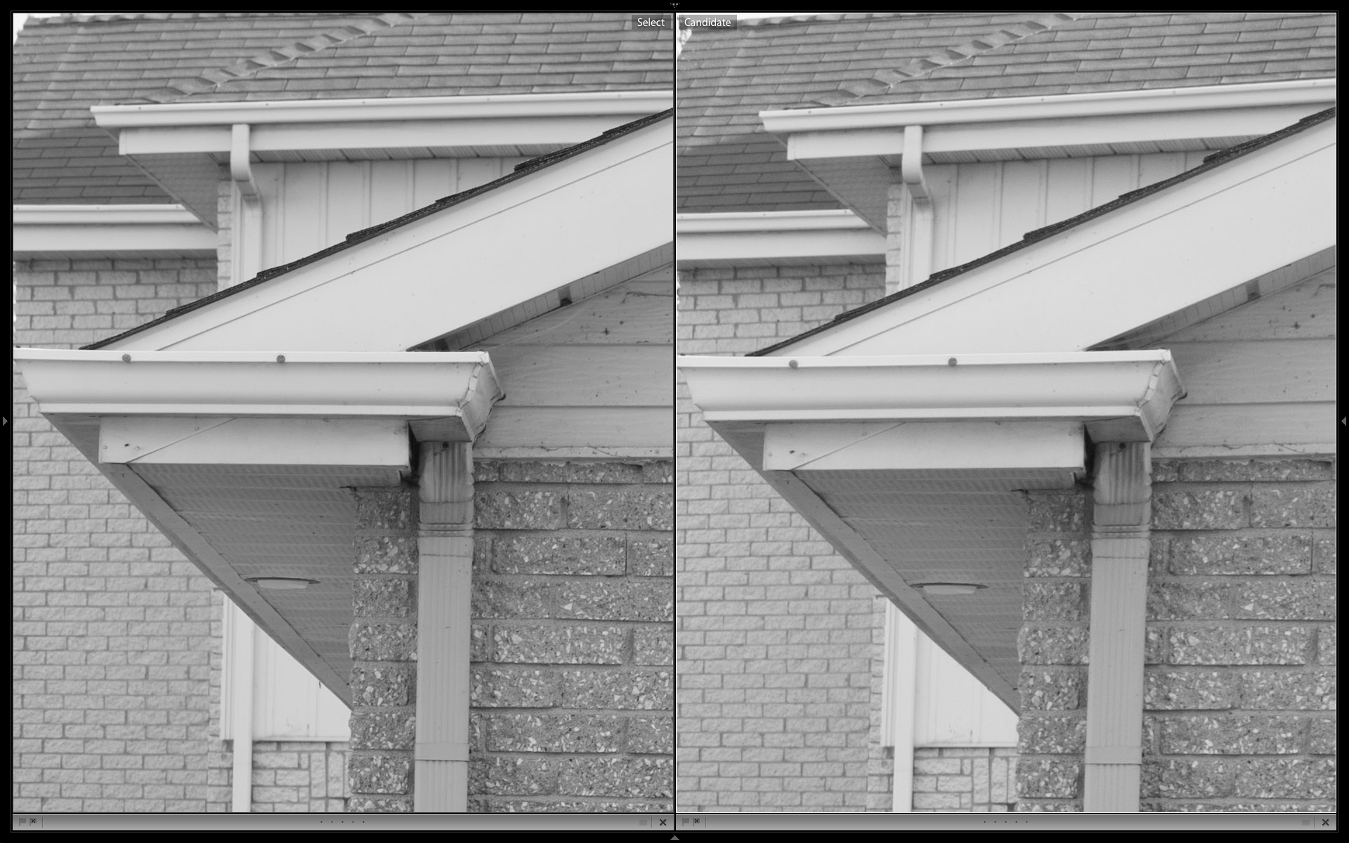 Zeiss 50mm left, 24-85VR right.