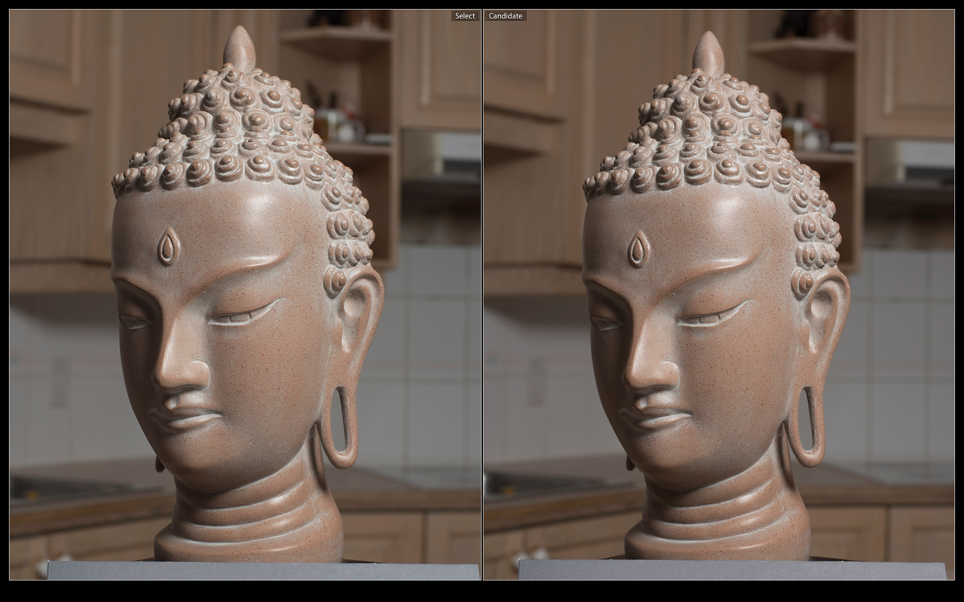 Nikkor AF 50mm 1.4D left, Sigma 50mm 1.4 ART right. 7 elements vs. 13. On the right, notice the lack of contrast in the background as well as the lack of tonality on the status head. This behavior is very similar to a cheap zoom.