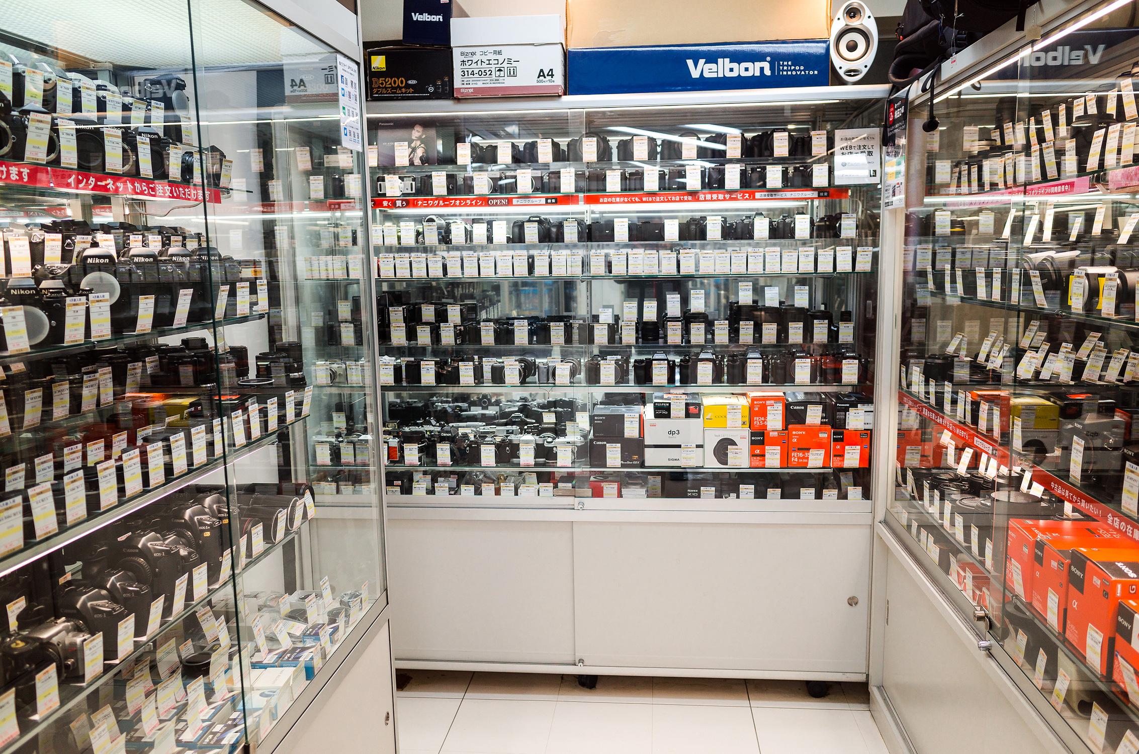 Used camera store in Osaka Umeda