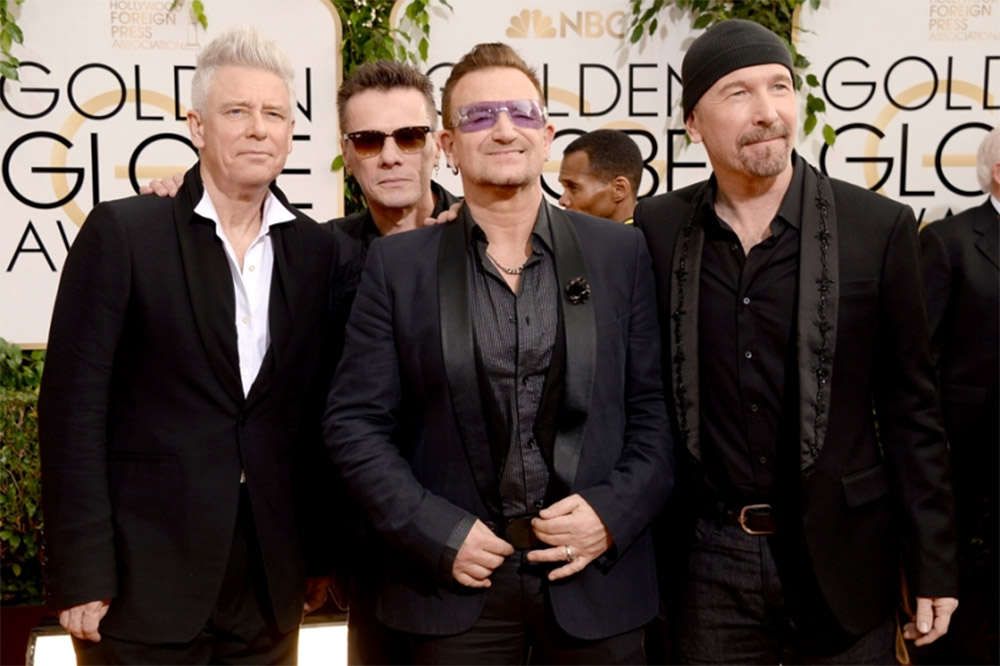 Golden Globe Award for Best Original Song - Irish super band U2 / Spin (p)