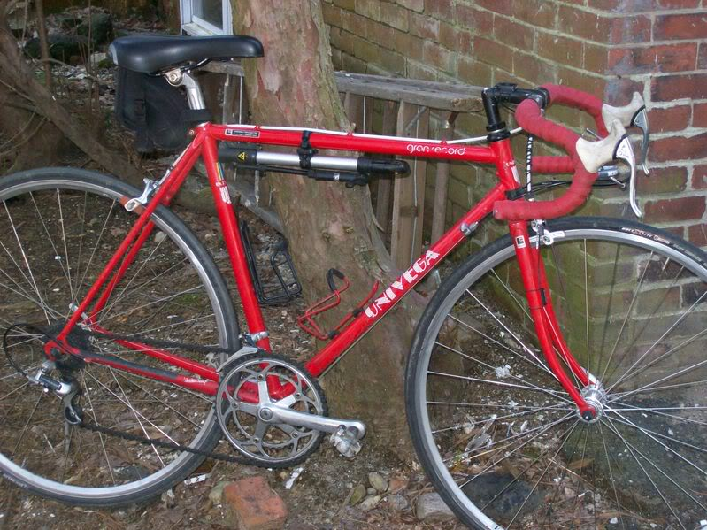 The author's first race bike - in 2008.