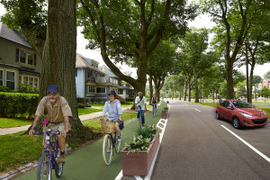 This proposed cycle track is on the Arborway, not the Jamaicaway. Oops!