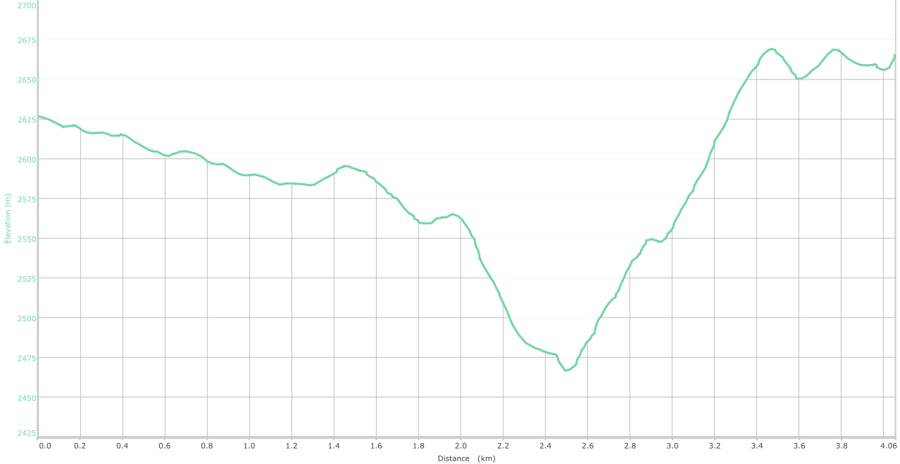 Elevation graph - Nathatop to Chorgala ( what is this? )