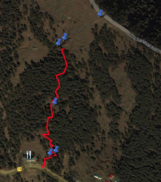 Route overview - Hotel Jai Skahan to Billo ki Powri