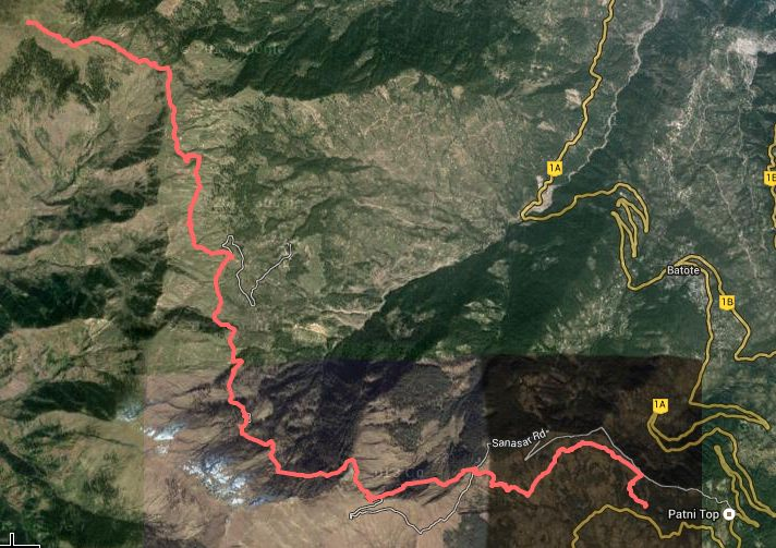 Route Map - Poonch House to Shankhpal ( view on google maps )