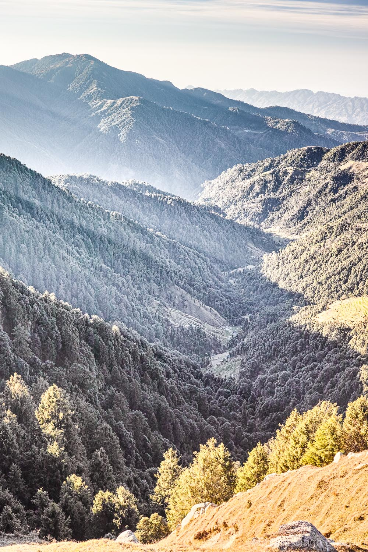 Looking over Chowari Lahru valley