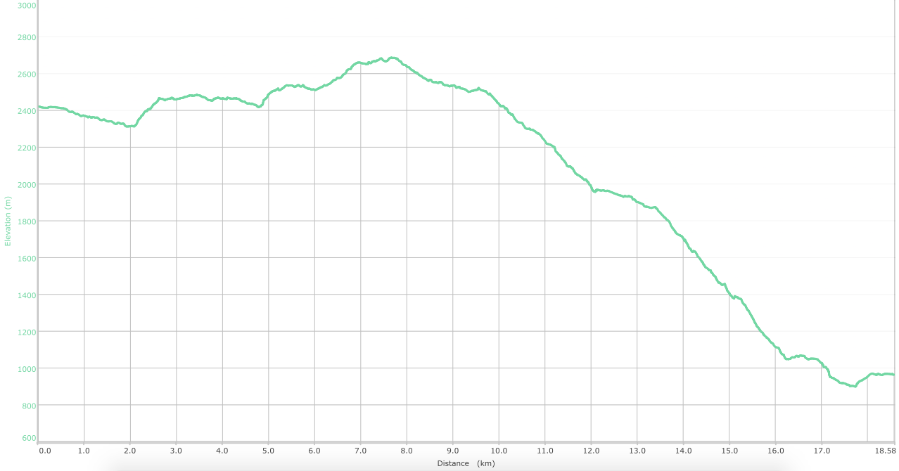 elevation graph - Chowari Jot to Chamba (what is this?)