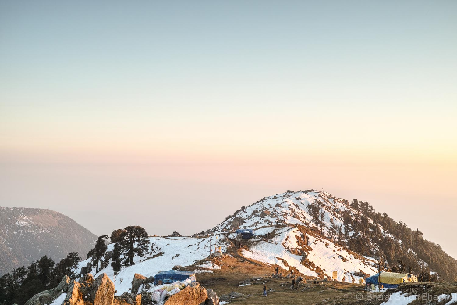 Triund during2015 winter, just a day before a heavy snowfall.