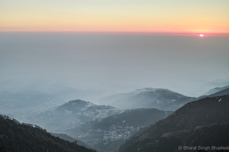 Kangra valley as viewed fromTriund