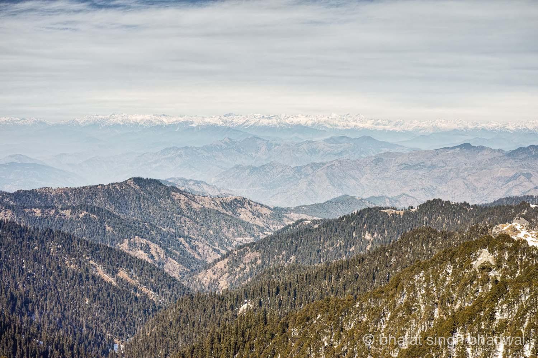 Undulating mountains en route to Shikari Mata.