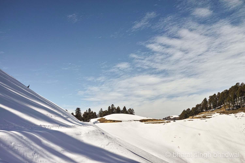 Last overhanging snow drift.