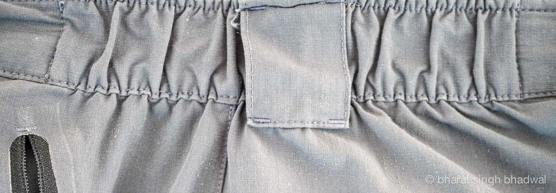 Partially elasticised waistband