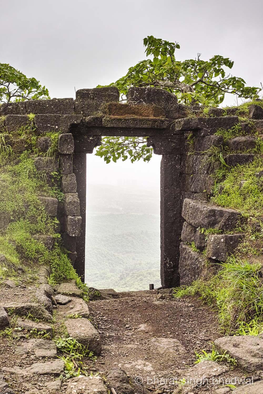 Karnala fort walls and gateway