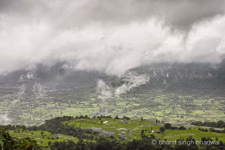 View from Kothaligad pinnacle