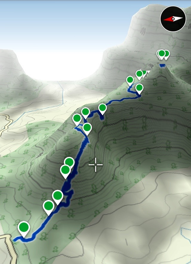 3D route overview - Ambivali to Kothaligad