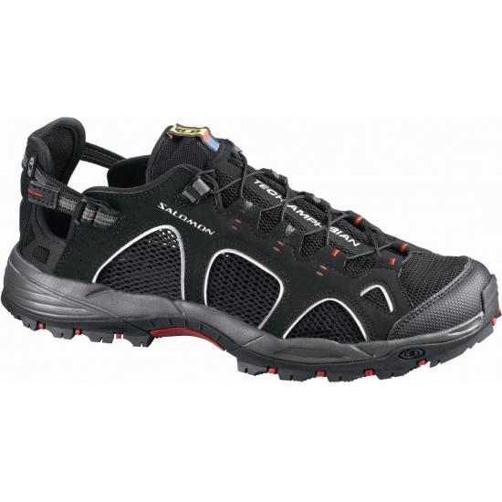 Salomon's Techamphibian 3 with robust straps and closed toe design but they are not exactly cheap.