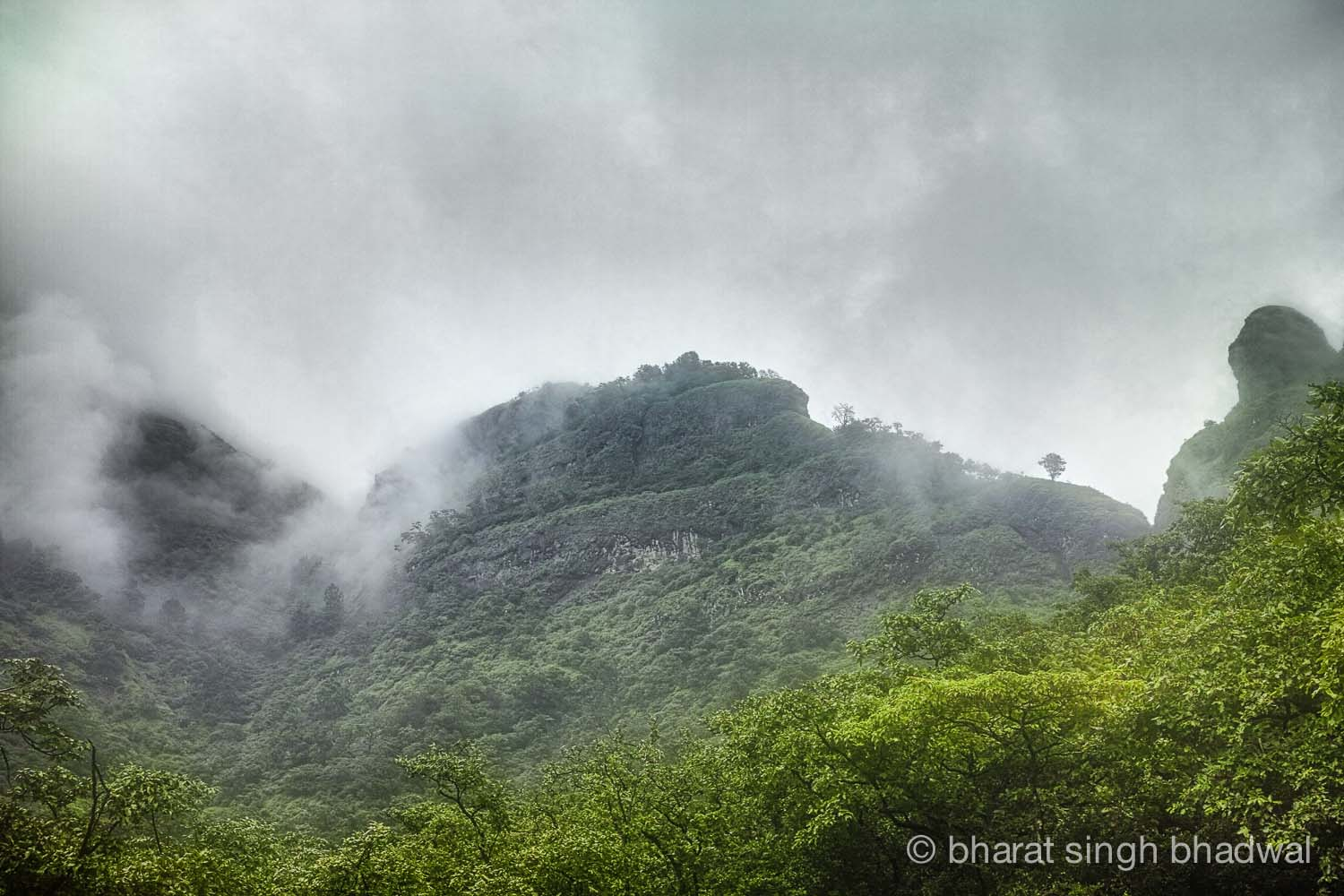 A beautiful view near the point where Sidhi Ghat and Ganesh Ghat routes converge