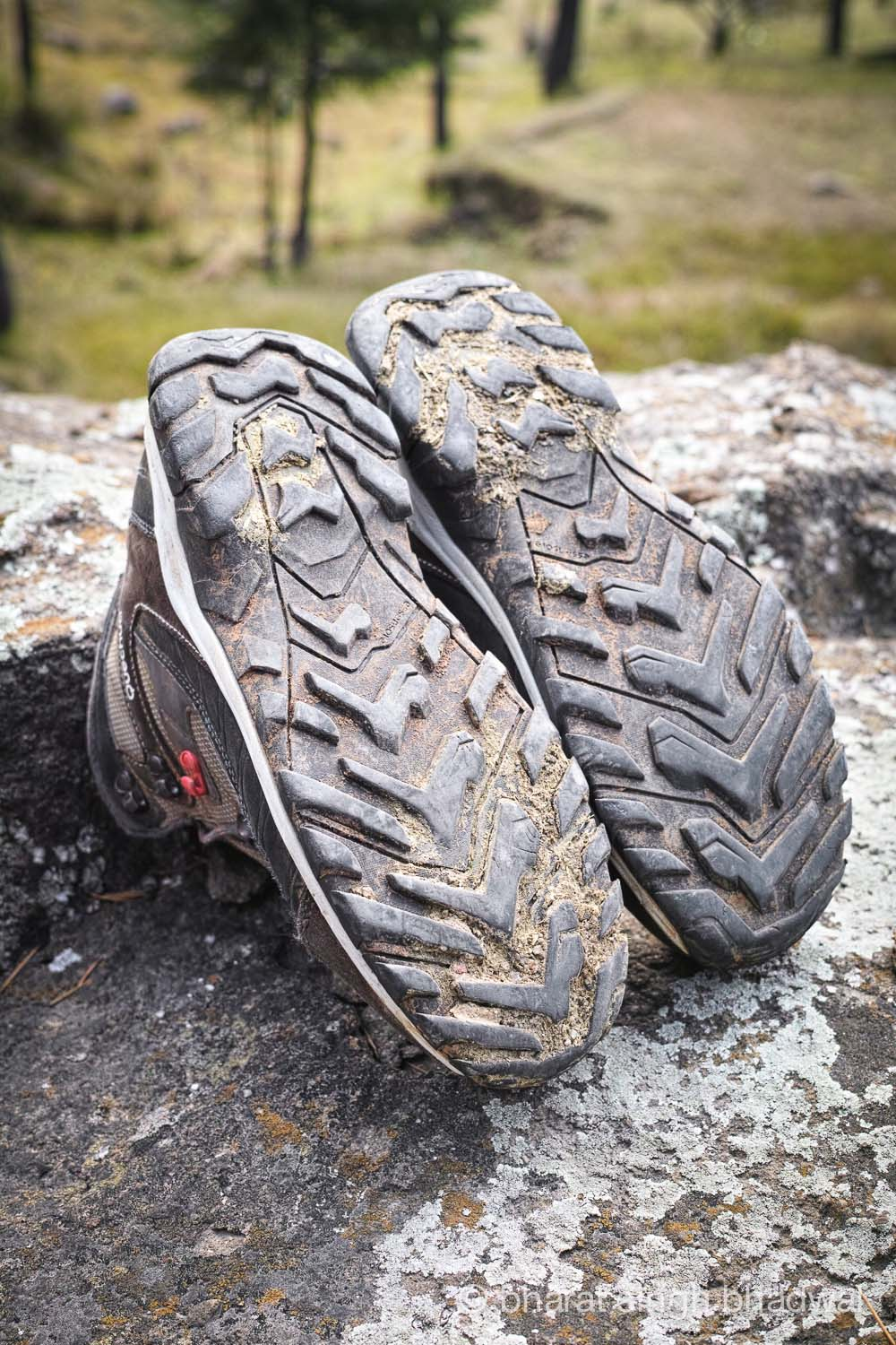 Sticky mud that gets inside the tread stays inside. Lack of self cleaning treads is a big drawback