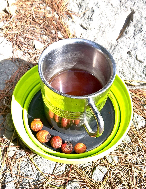Rose hip tea. Serve piping hot.