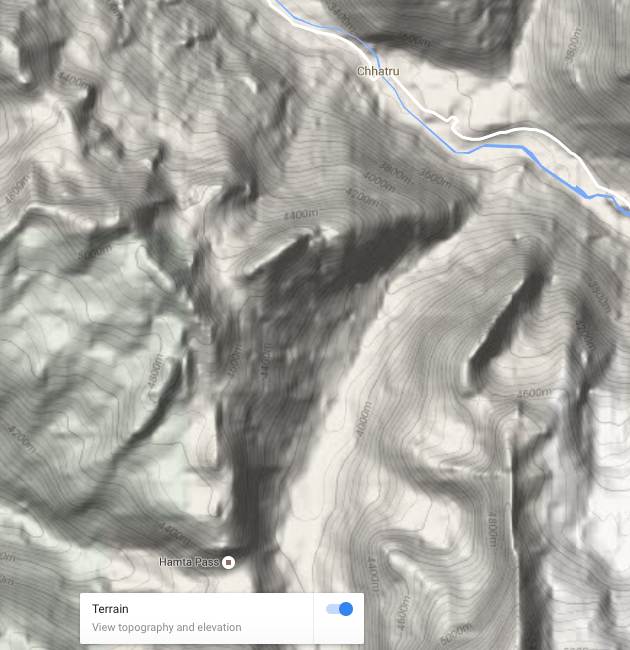 Selecting Terrain view on Google Maps gives you contour lines and elevation profile.