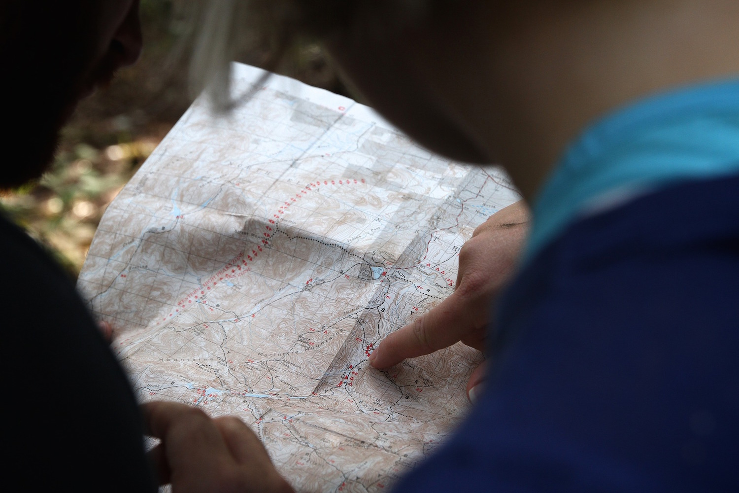 Create your own trail from a topographical map.