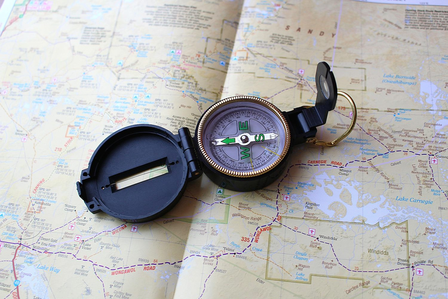 A compass and orienteering skills are a must in a trekker's repertoire.