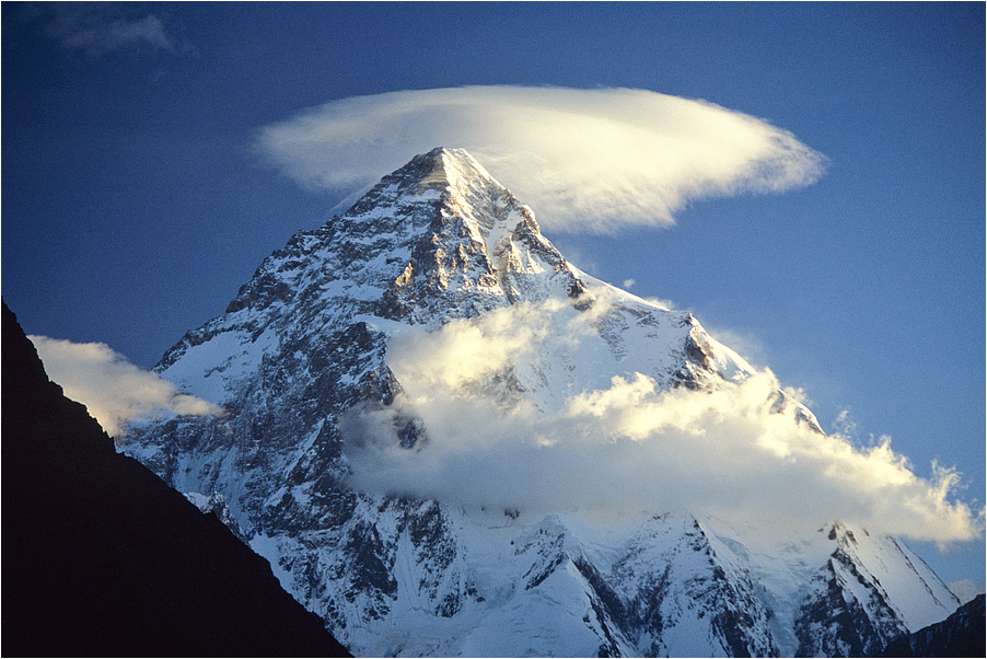 Lenticular cloud over K2