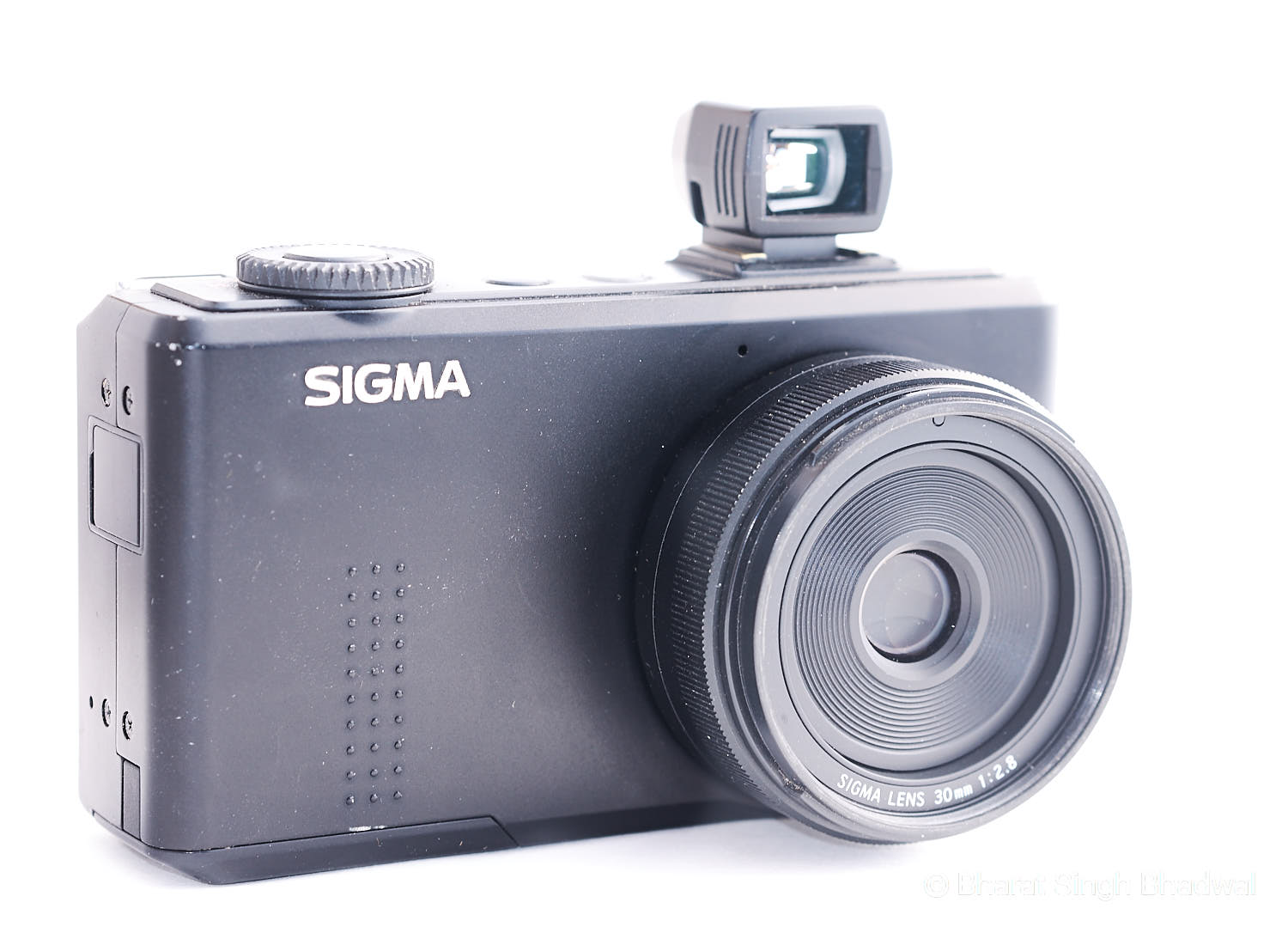 Our Sigma DP2M with a Sigma VF21 optical viewfinder