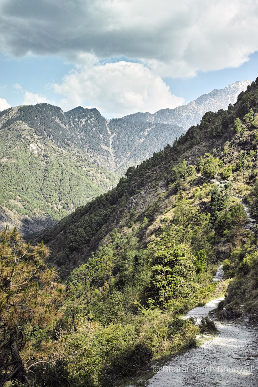 Trail between Balh village and Guna temple