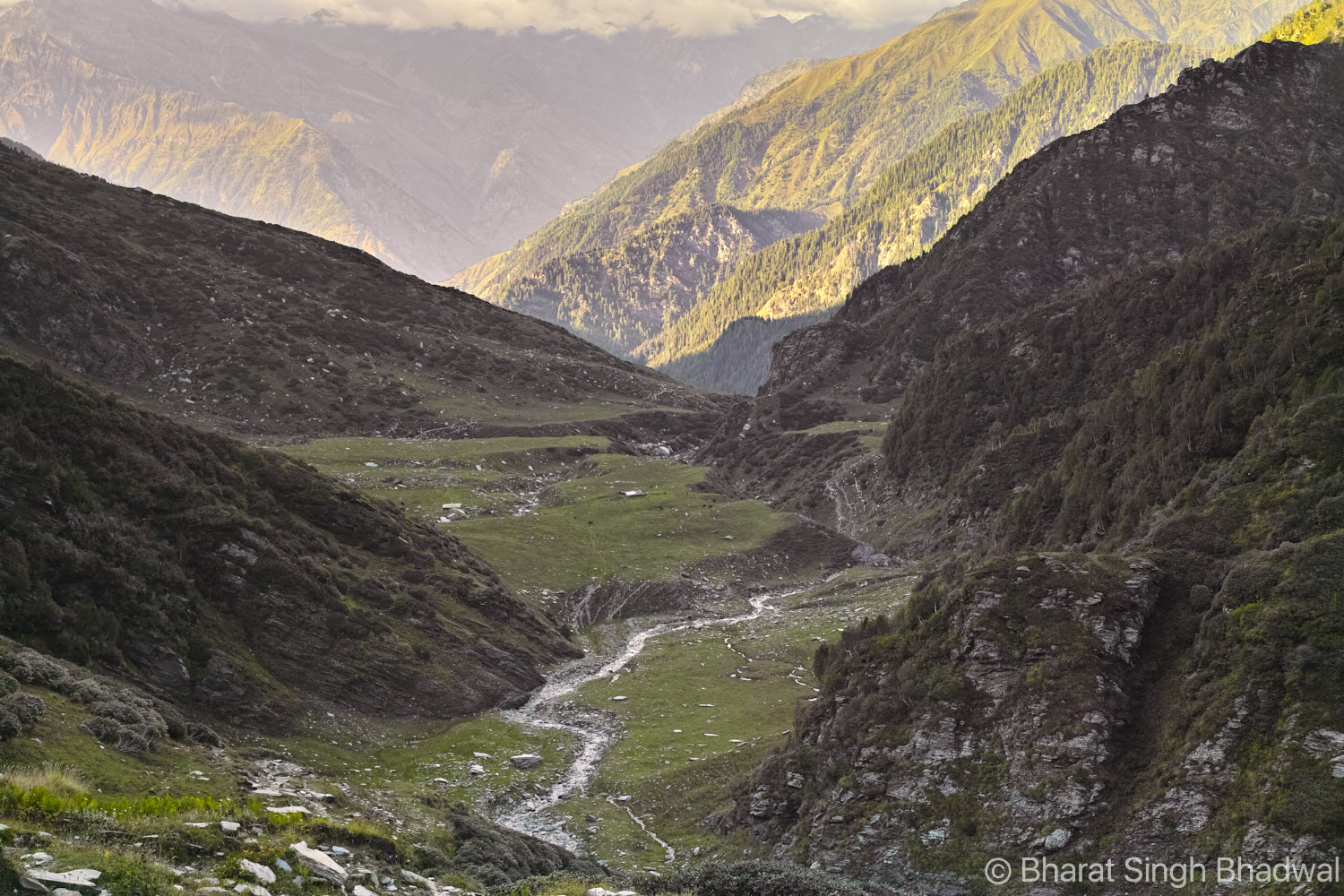 Looking down to Jalsu Gothe (on Chamba Side) from Jalsu Pass.