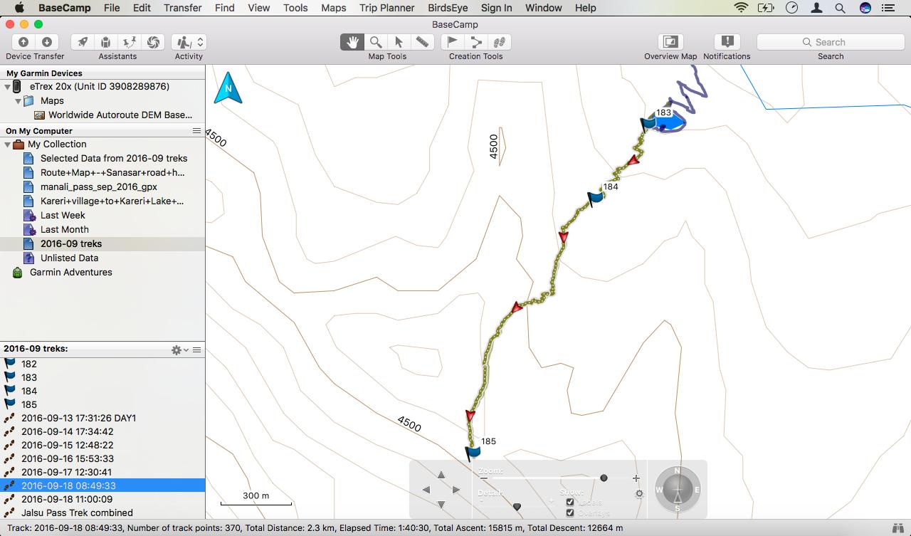 Garmin BaseCamp Version 4.6.3 (4.6.3) running on Mac.