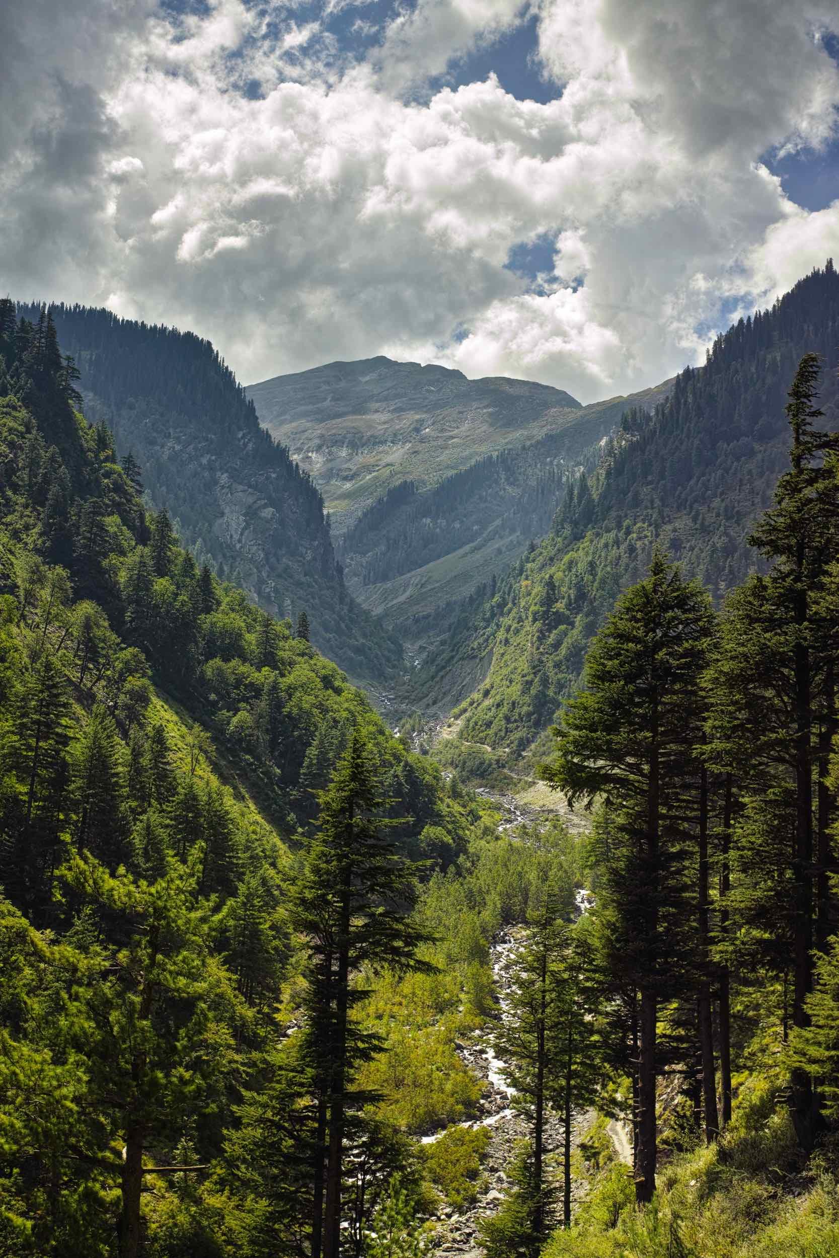 From Hadsar the trail follows the Mani Mahesh Stream