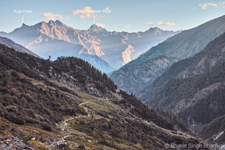 Manimahesh peak from Jalsu Pass