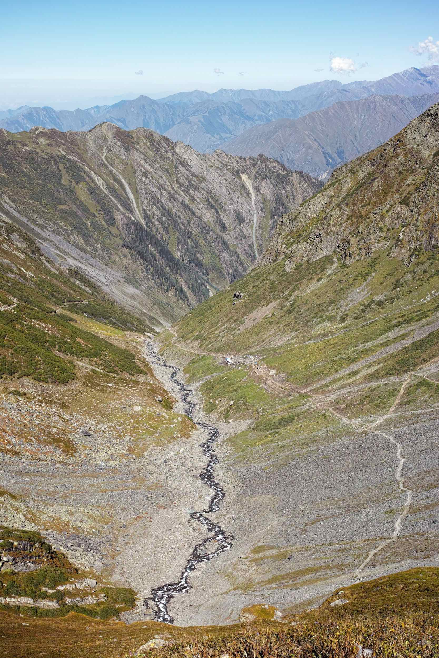 The view back from Gaurikund