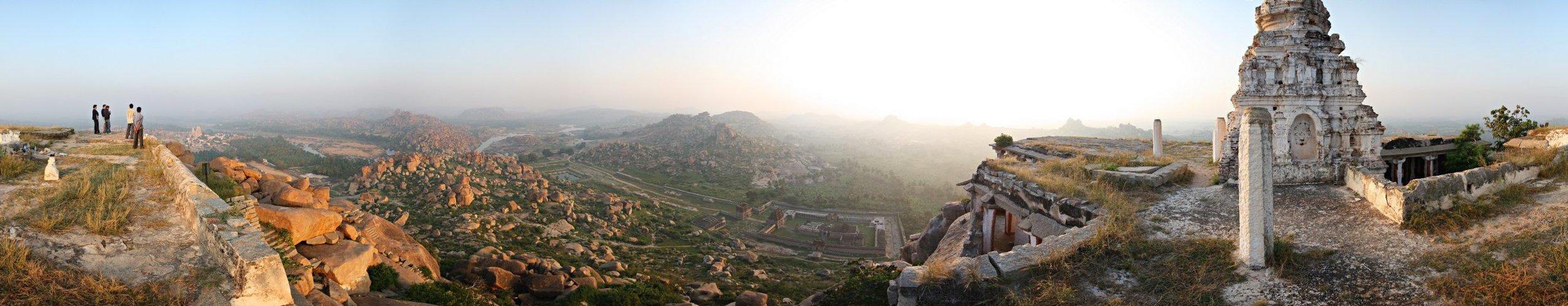 Hampi Scenery from Matanga Hill by LennartPoettering at English Wikipedia [ CC BY-SA 3.0  or  GFDL ], via Wikimedia Commons