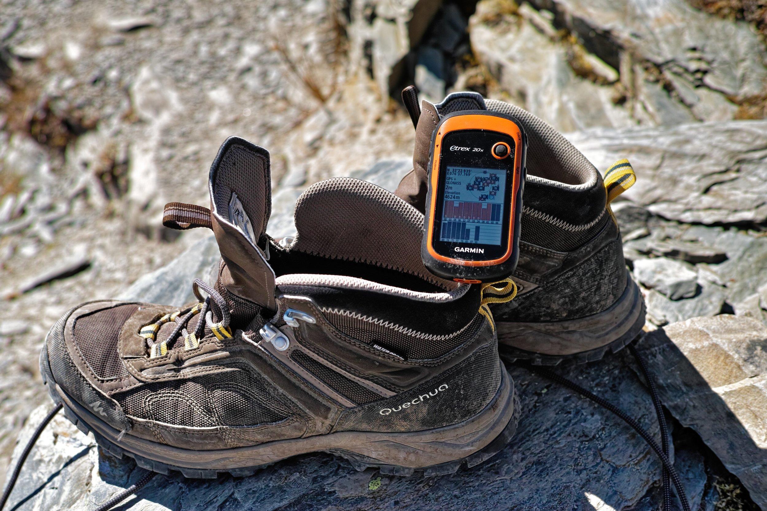 Kalah Pass 4624m (+-2m) recorded with Garmin Etrex20x GPS ( inditramp's review )