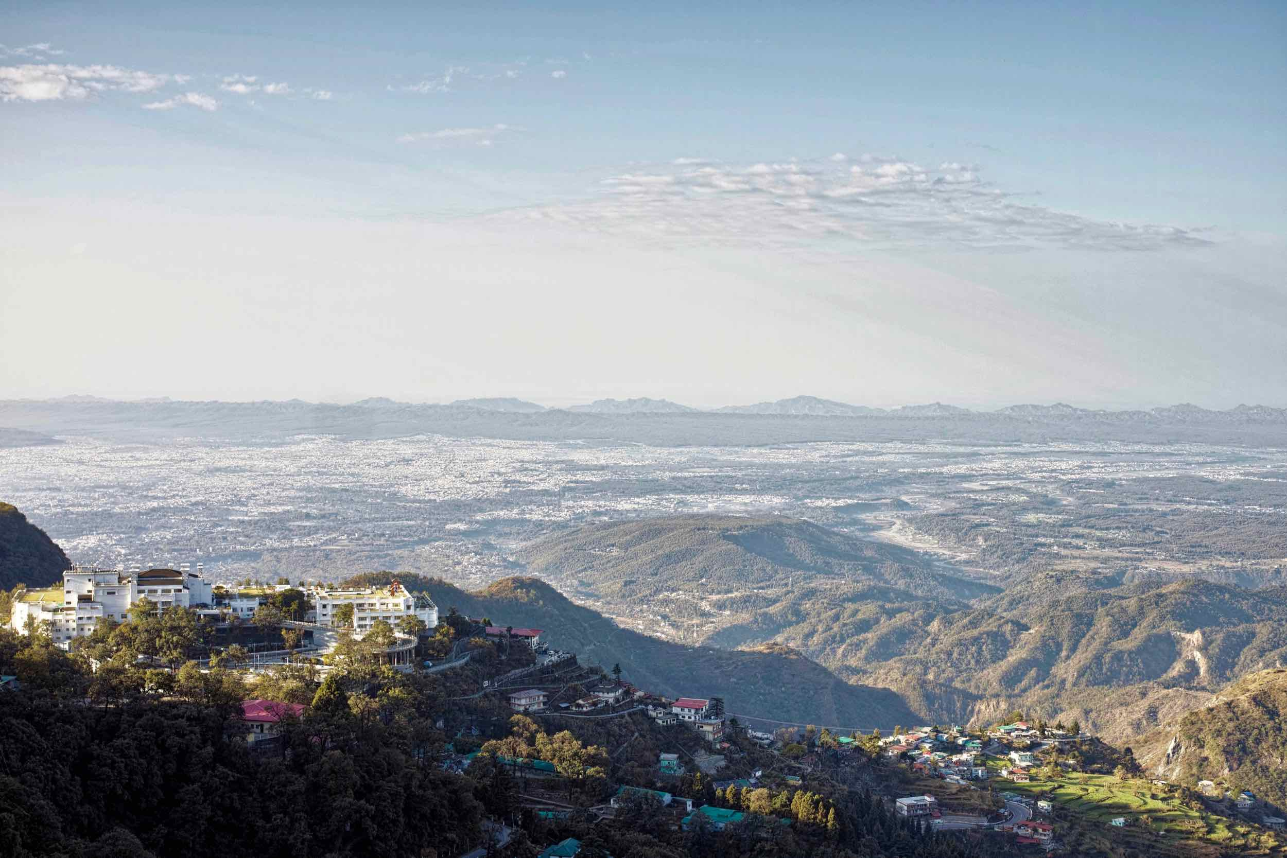 Looking over Doon valley from one of the viewpoints along the way